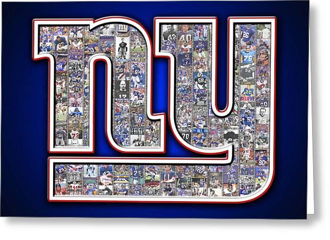 New York Giants Greeting Card by Fairchild Art Studio