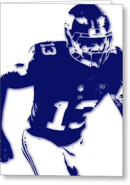 New York Giants Odell Beckham Jr Greeting Card by Joe Hamilton