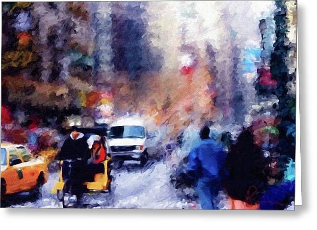 New York Hustle And Bustle Greeting Card