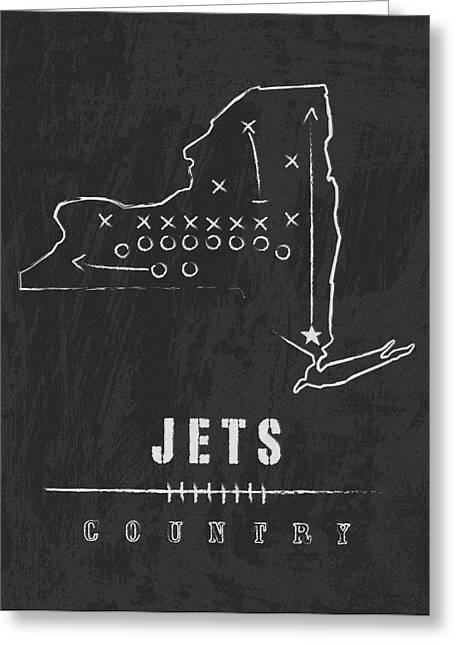 New York Jets Art - Nfl Football Wall Print Greeting Card by Damon Gray