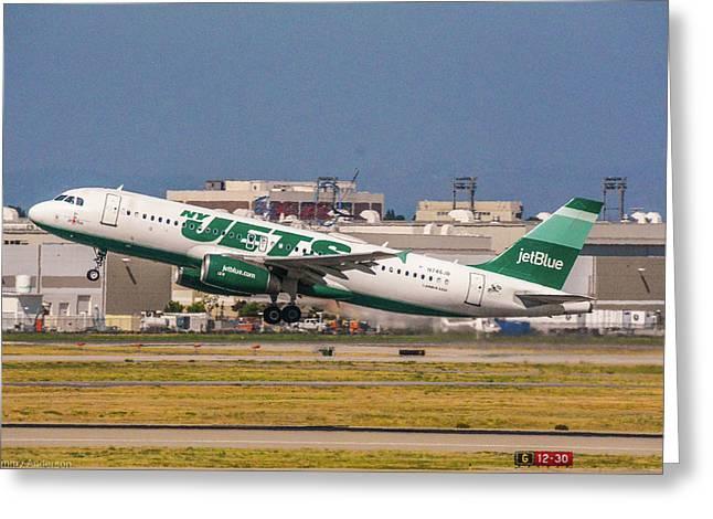 New York Jets Jet Greeting Card