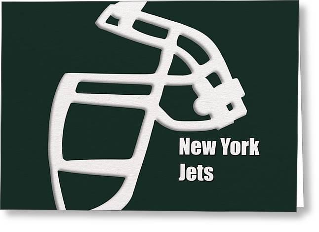 New York Jets Retro Greeting Card by Joe Hamilton