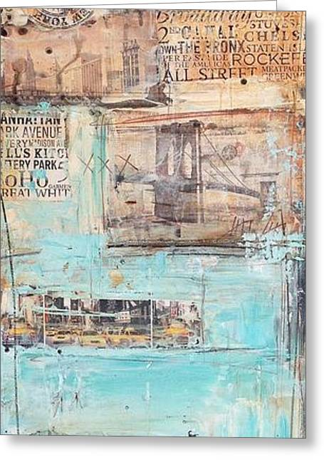 New York Greeting Card by Jolina Anthony