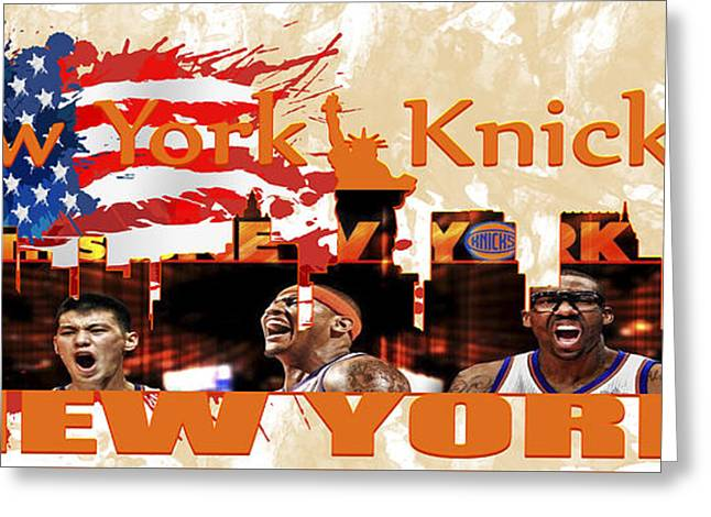 New York Knicks Greeting Card by Don Kuing