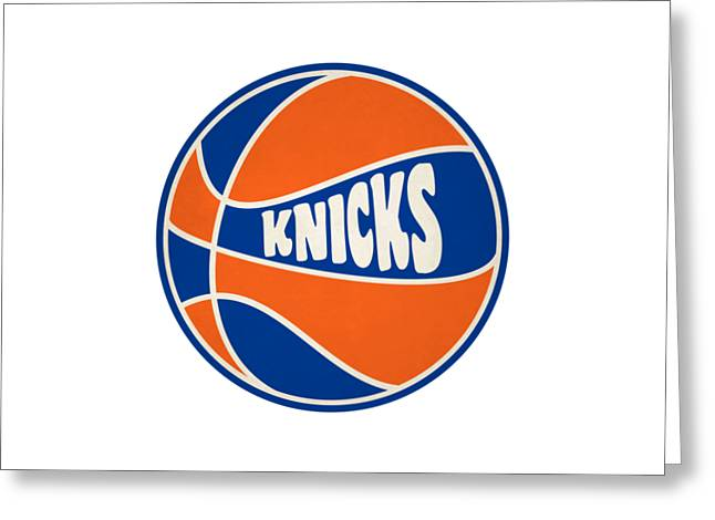 New York Knicks Retro Shirt Greeting Card by Joe Hamilton