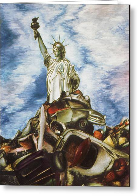 New York Liberty 77 - Fantasy Art Greeting Card by Art America Gallery Peter Potter