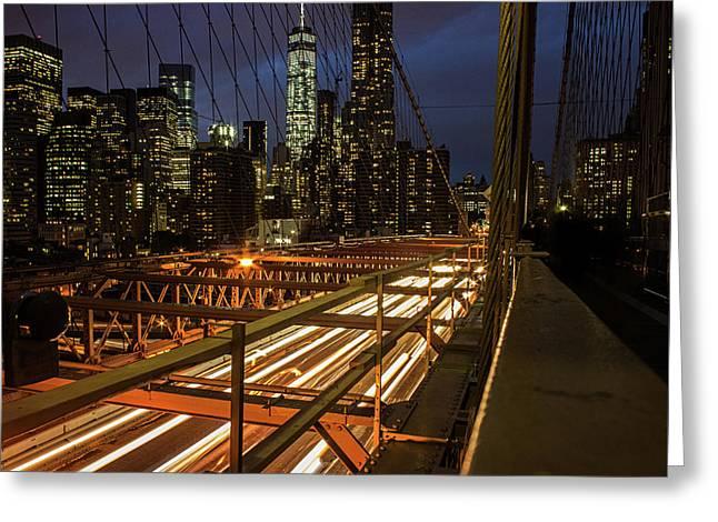 New York Lights Greeting Card