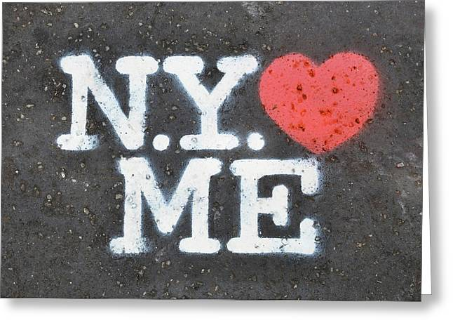 New York Loves Me Stencil Greeting Card