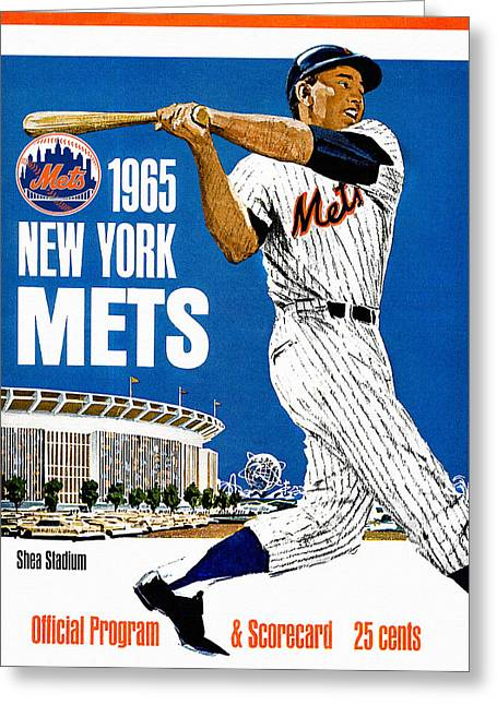 New York Mets 1965 Official Program Greeting Card