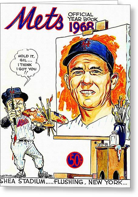 New York Mets 1968 Yearbook Greeting Card by Big 88 Artworks