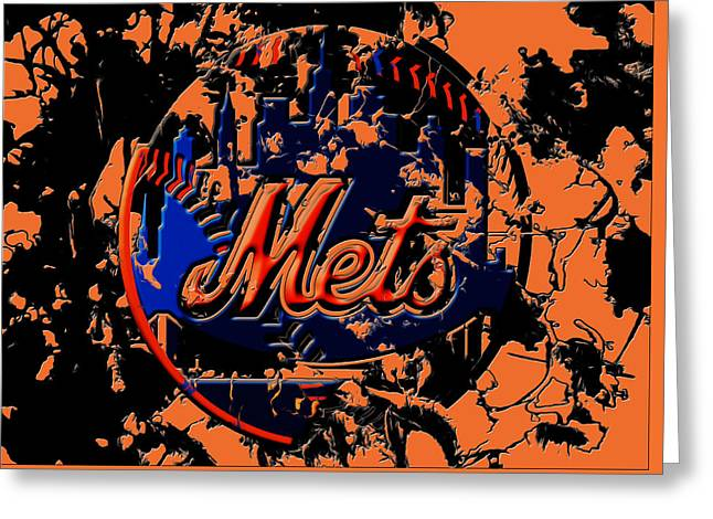 New York Mets 6c Greeting Card by Brian Reaves