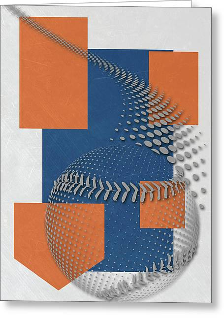 New York Mets Art Greeting Card by Joe Hamilton