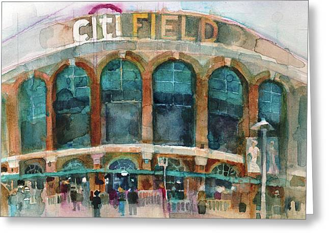 New York Mets Art Print Citifield Greeting Card
