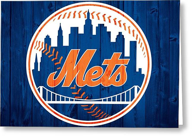 New York Mets Barn Door Greeting Card