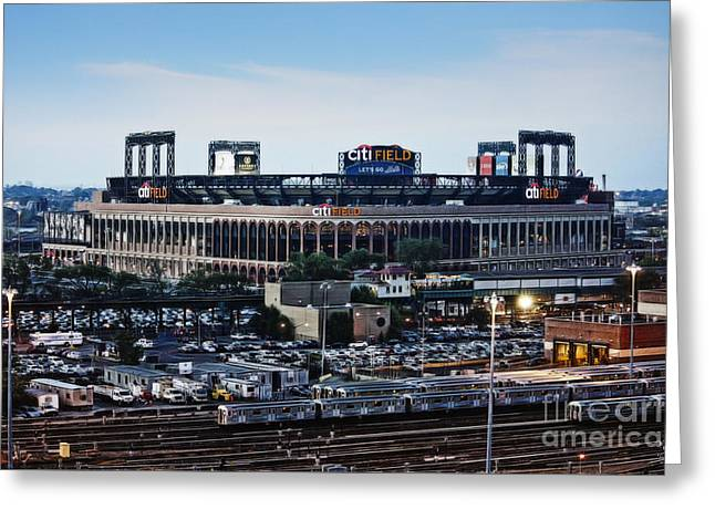 New York Mets Citi Field Greeting Card by Nishanth Gopinathan