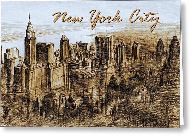 New York City - Mid Manhattan Greeting Card