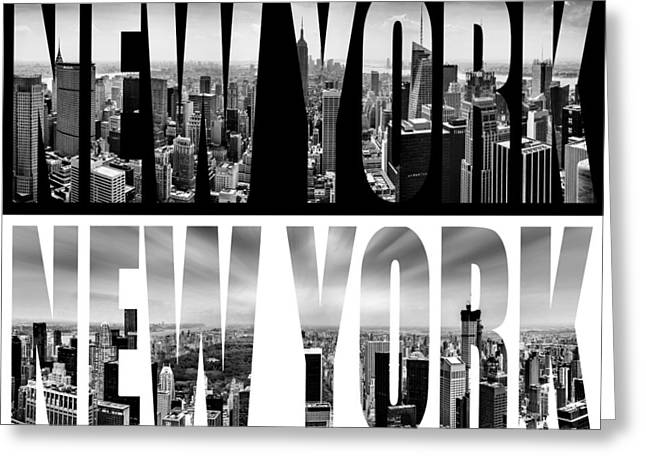 New York New York Greeting Card by Az Jackson