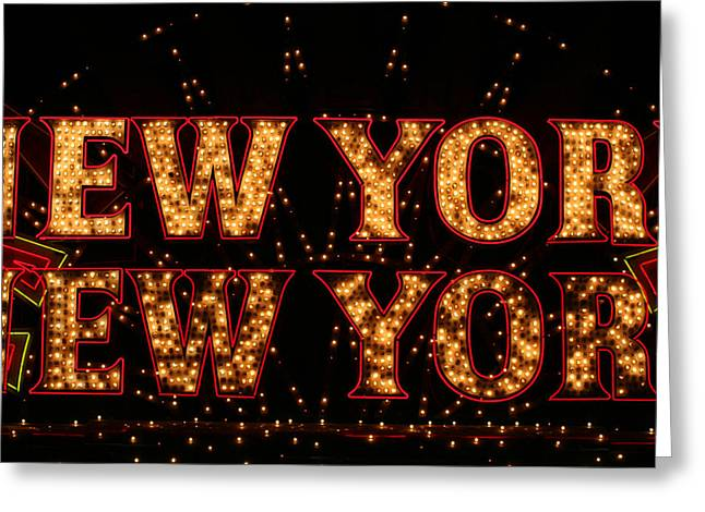 New York New York Greeting Card by Jason Williams