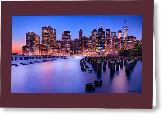 New York New York Greeting Card by Marvin Spates