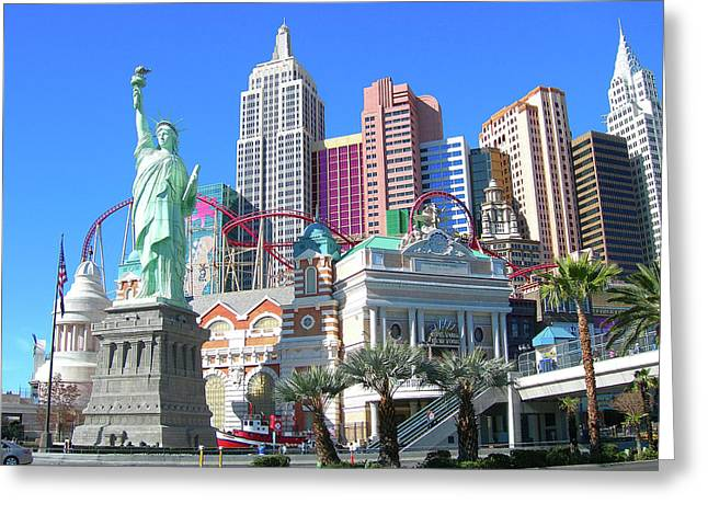 Greeting Card featuring the photograph New York New York by Randy Rosenberger