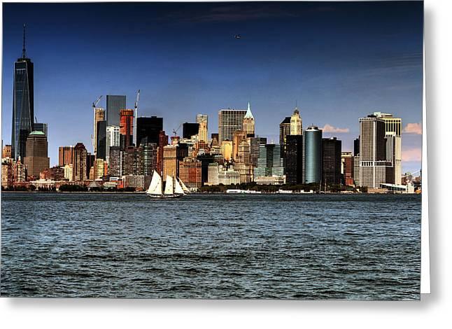 New York New York Greeting Card by Tom Prendergast