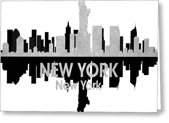 New York Ny 4 Squared Greeting Card by Angelina Vick