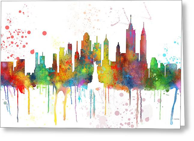 New York Ny Skyline Greeting Card