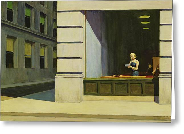 New York Office, 1962 Greeting Card by Edward Hopper
