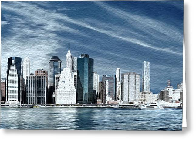New York One Greeting Card by Melissa Smith