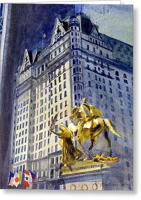 New York  Plaza Hotel Greeting Card