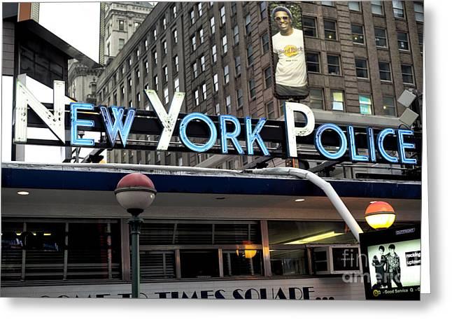 New York Police Greeting Card