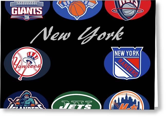 New York Professional Sport Teams Collage  Greeting Card