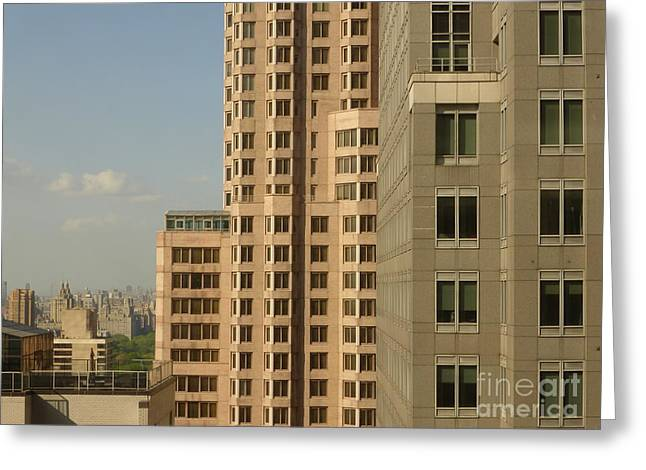New York Proportions Greeting Card by Andy  Mercer