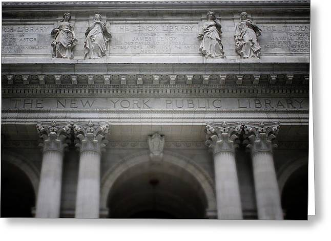 New York Public Library- Art By Linda Woods Greeting Card by Linda Woods