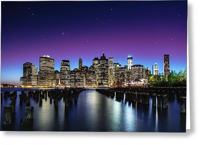 New York Sky Line Greeting Card by Nanouk El Gamal - Wijchers
