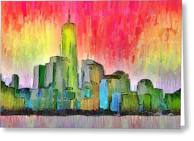 New York Skyline 3 - Pa Greeting Card