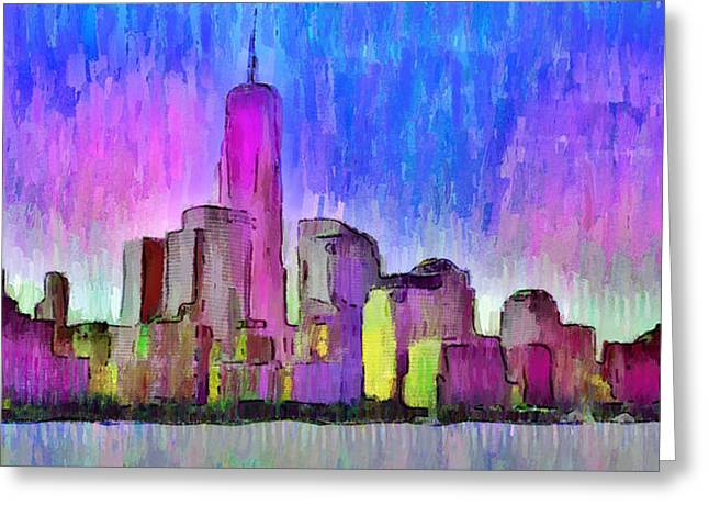 New York Skyline 4 - Da Greeting Card