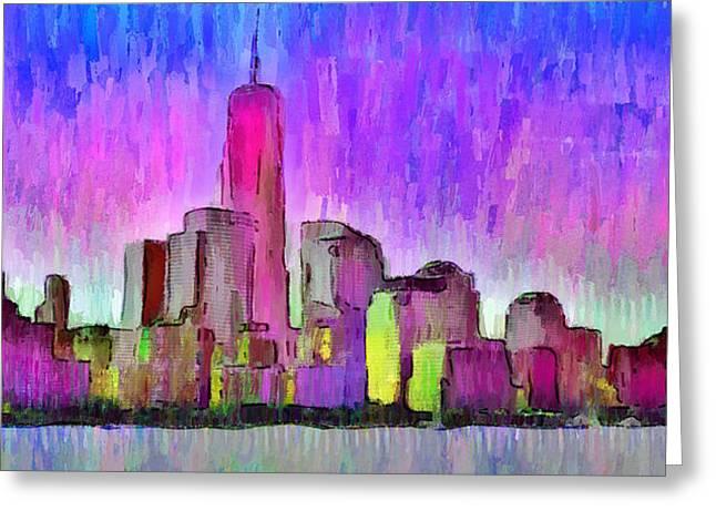 New York Skyline 7 - Da Greeting Card