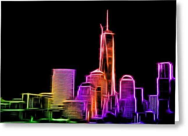 Greeting Card featuring the photograph New York Skyline by Aaron Berg