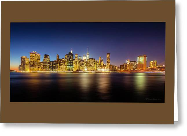 New York Skyline Greeting Card by Marvin Spates