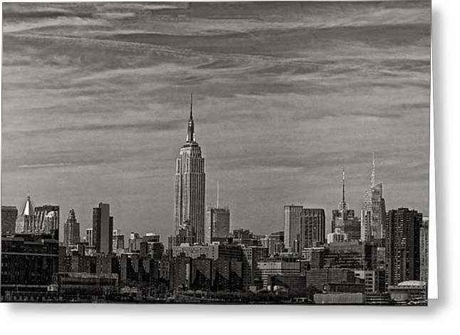 New York Skyline Greeting Card by Robert Ullmann