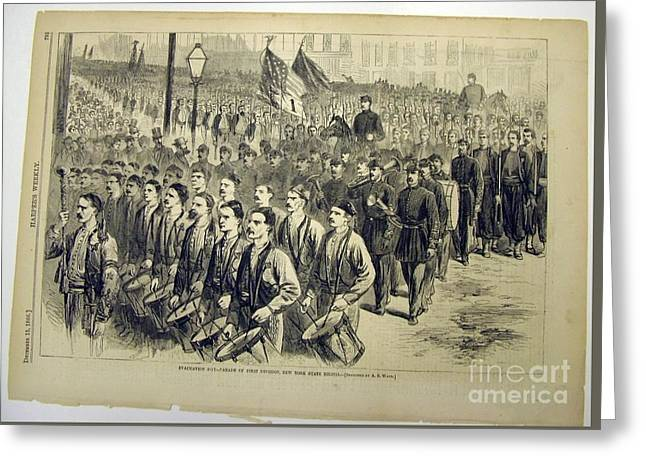 New York State Militia Greeting Card by MotionAge Designs