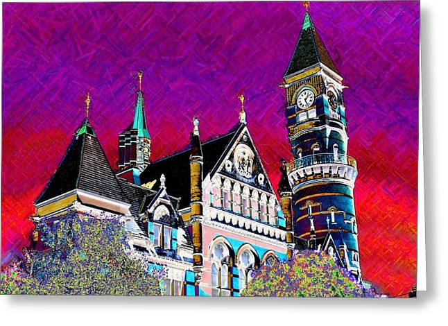 New York State Of Mind Greeting Card by Howard Lancaster