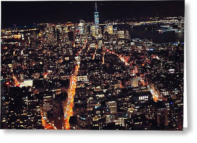 New York State Of Mind Greeting Card by Rick Grossman