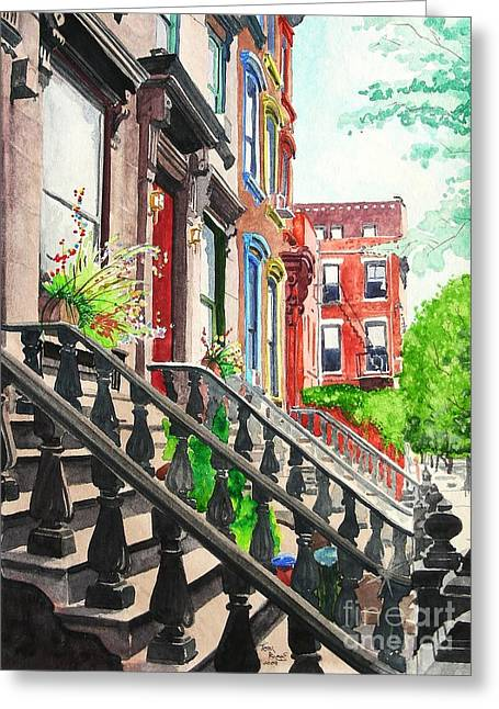 New York Steps Greeting Card by Tom Riggs