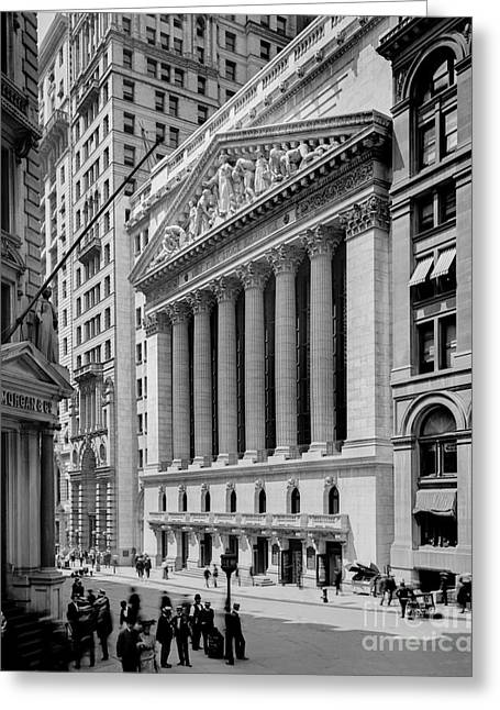 New York Stock Exchange Circa 1904 Greeting Card by Jon Neidert