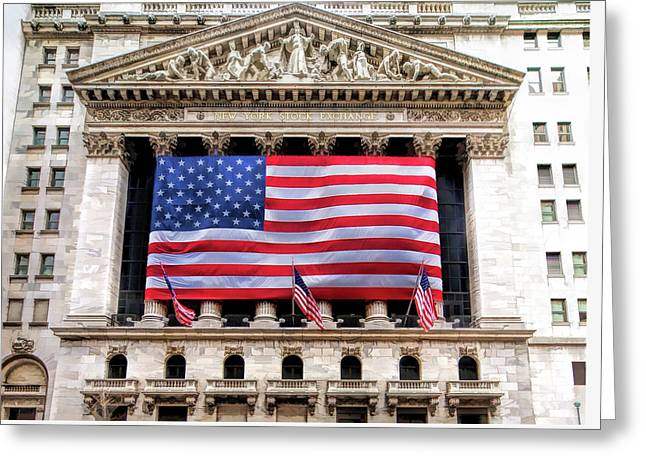 New York Stock Exchange Flag Greeting Card
