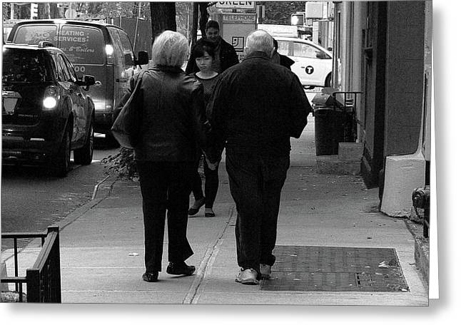 Greeting Card featuring the photograph New York Street Photography 75 by Frank Romeo