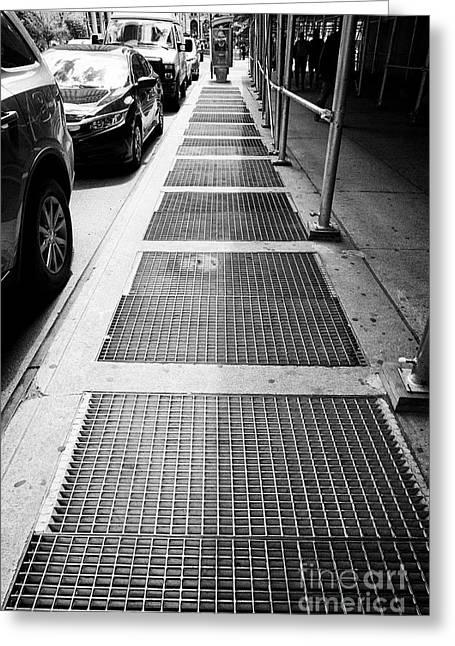 New York Subway Ventilation Grills In Sidewalk City Usa Greeting Card