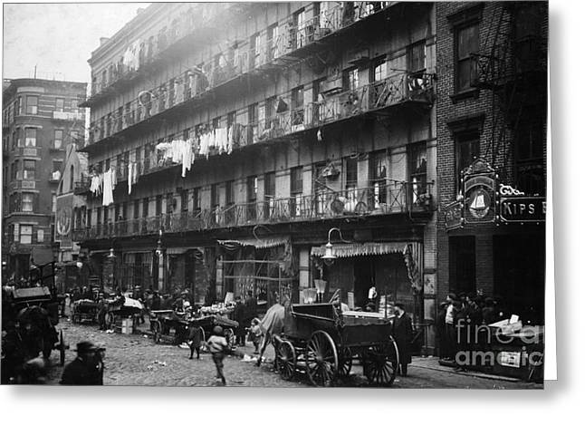 New York: Tenements, 1912 Greeting Card by Granger